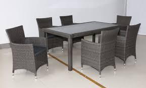 kiama 7 piece outdoor dining setting graphite u2013 furnitureokay