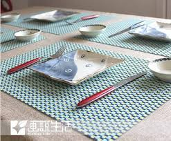 table mats and coasters new fashion lattice placemats pvc placemat dining table mat green