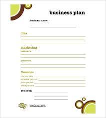 Business Plan Template Excel Free Simple Business Plan Template Free Bikeboulevardstucson Com