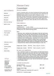 cosmetology resume template cosmetology resume templates free template stylish idea