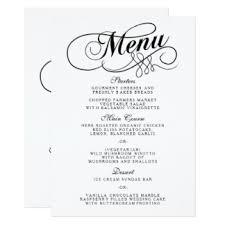 menu template wedding wedding menus zazzle