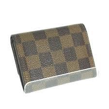 designer portemonnaie portemonnaie card coin damier canvas n61930 on tradesy