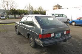 hatchback cars 1980s old parked cars 1983 chevrolet chevette cs