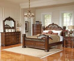 Traditional Cherry Bedroom Furniture - the sommer vintage poster 6 pc king bedroom set 1300 by crown mark