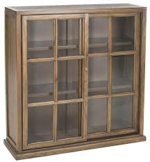 Oak Bookcases With Glass Doors Amh6570b Bookcases Furniture By Safavieh