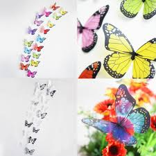 18pcs 3d butterfly diy wall sticker removable pvc wallpaper
