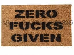 doormat funny zero fucks given doormat funny rude mature novelty doormat damn