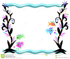 fish clipart frame pencil and in color fish clipart frame