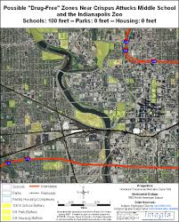 Map Of Downtown Indianapolis Indiana U0027s Drug Free Zone Laws Policy Option Maps