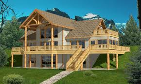 Lake House Home Plans by House Plans Hillside Walk Out House Plans Lake House Design Plans