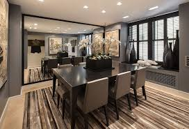contemporary dining room with window seat by the corcoran group