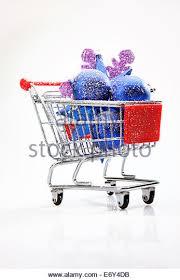 ornaments shopping cart stock photos