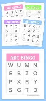 printable alphabet recognition games freebie uppercase alphabet bingo homeschool pinterest