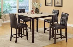 How Tall Is A Dining Room Table Amazon Com Counter Height Table With Faux Marble Top And 4 High