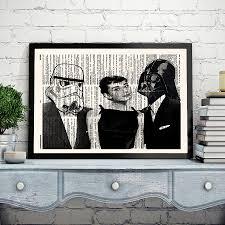 Star Wars Office Star Wars Audrey Hepburn Darth Vader Stormtrooper Wall Art