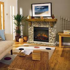 rustic fieldstone flat wall fireplace by dimplex wolf and