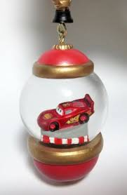 lightning mcqueen globe sketchbook ornament disney store 30th
