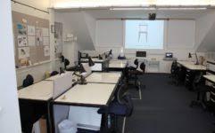 chalkboard desk homeschool room minimalist idea home home