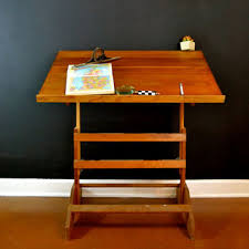 Vintage Wooden Drafting Table Vintage Wood Carved Electric Lanshire From Thought Cake Living