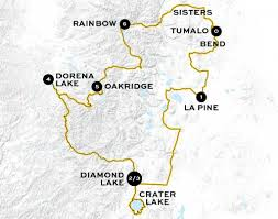Three Sisters Springs Map The Classic U2013 Cycle Oregon