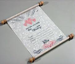 unique wedding invitation make a unique wedding invitation scroll