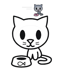 cute kitty coloring page free download