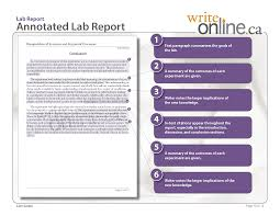 write online lab report writing guide parts of a lab report