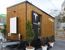 pod houses tesla built a tiny house to show off energy products daily mail