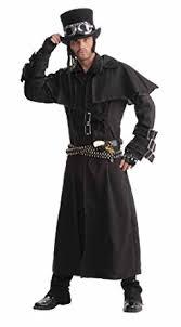 Trench Coat Halloween Costume Amazon Men U0027s Steampunk Duster Coat Black Size Costume