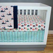Aqua And Grey Crib Bedding Chevron Crib Bedding Sarahdinkelacker