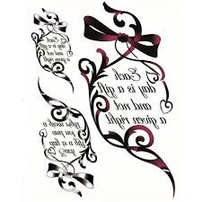 yeeech temporary tattoos sticker for women fake old english bow