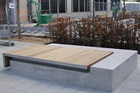 c127c08 large type 5 wall mounted bench landscape architecture