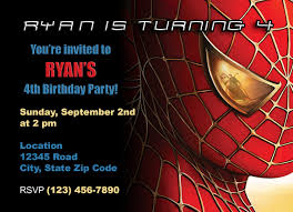 free birthday invitation card birthday invites amusing spiderman birthday invitations design