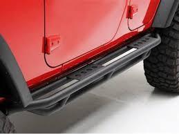 jeep rock sliders smittybilt jeep rocker guards black matte finish