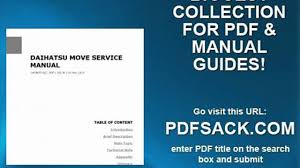 daihatsu move service manual video dailymotion