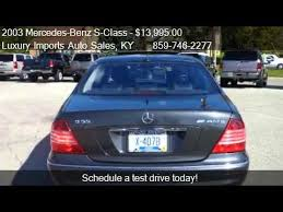 2003 mercedes amg for sale 2003 mercedes s class s55 amg for sale in florence k