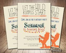 creative where the wild things are invitation or boy
