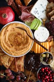 potato hummus with brown butter spiced pita chips a thanksgiving