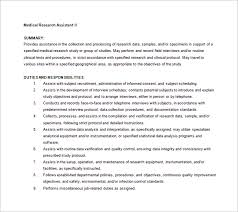 Examples Of A Medical Assistant Resume by 9 Medical Assistant Job Description Templates U2013 Free Sample