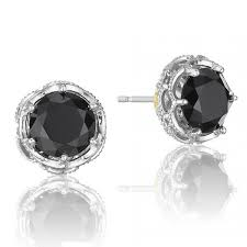 black onyx stud earrings tacori sterling silver black onyx earrings