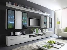 stunning flat tv on the gray wall ideas living room also floating