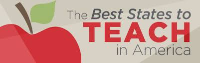 best states to work in best states to teach in america