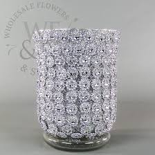 Silver Vase Wholesale Diamond Glitter Pilsner Vases Medium Wholesale Flowers And Supplies