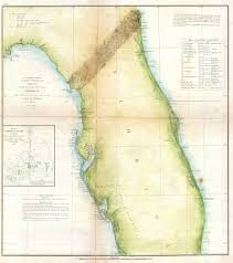 Florida Coastline Map by File 1857 U S Coast Survey Map Of Florida Geographicus