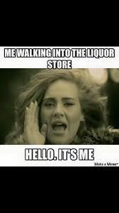 Funny Hello Meme - me walking into the liquor store hello it s me me pinterest