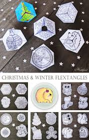 paper toys flextangles for christmas u0026 winter red ted art u0027s blog