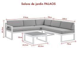 canapé d angle de jardin salon jardin palaos canapé angle relevable table basse