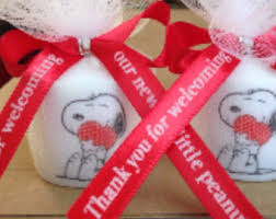 snoopy ribbon snoopy candle etsy