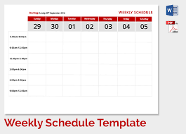 Excel Weekly Schedule Template Weekly Schedule Template 9 Free Word Excel Documents