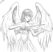 violin angel by darkpantherchick on deviantart
